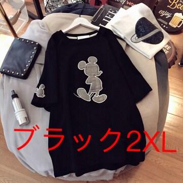 LAUB062春夏レディース綿 大きいサイズ ロングTシャツ(2XL)