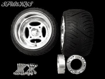 ジャイロ用 クロスホイール扁平タイヤ&スペーサー40mm
