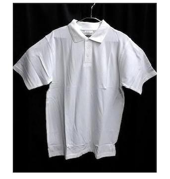 セール新品ビッグシルエット着回し抜群★ポロシャツホワイトL無地