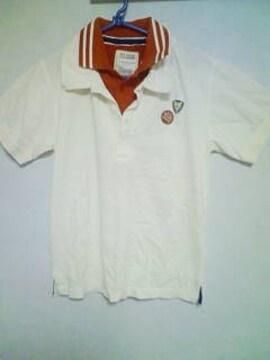 Aー239★新品半袖SIX STARレイヤードポロシャツ ホワイト M