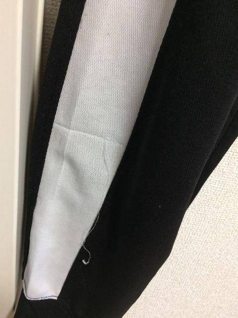 ラインジャージ ボトムス ブラック×ホワイト 吸汗速乾 < 男性ファッションの