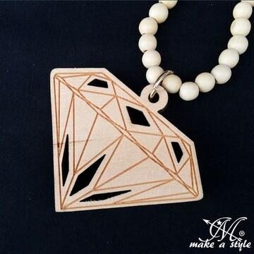 GOOD WOOD NYC ダイヤモンド 宝石 ウッドネックレスB系HIPHOP263
