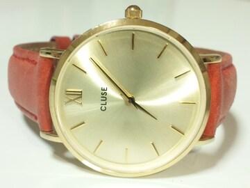 12102/CLUSEお洒落なレディース腕時計付属完備変えレザー革付