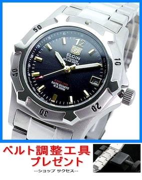 新品即買■エルジンELGIN ソーラー腕時計FK1423TI-B★調整工具付