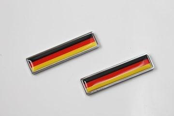 スリム国旗柄エンブレム2個入り ドイツ  細型 細長