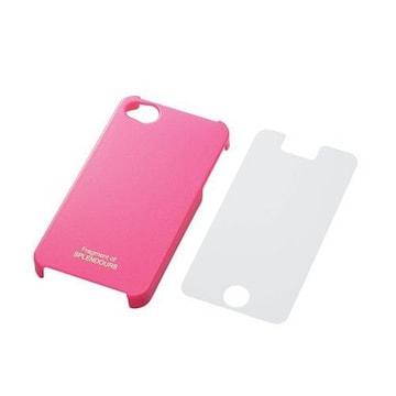 【送料込】ELECOM iPhone 対応 シェルカバー ビビットピンク