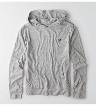 【American Eagle】Vintage AEOレジェンドフーディーTシャツ XL/Grey