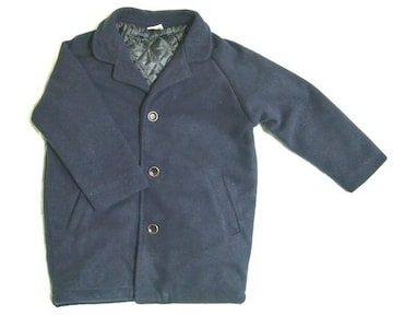新品 こども 男の子 コート 紺 ネイビー フォーマル 120〜130