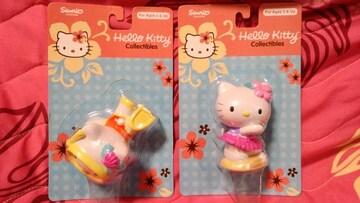 ハワイ購入☆ハワイ限定!日本未入荷!キティちゃんフィギュア☆2種セット新品