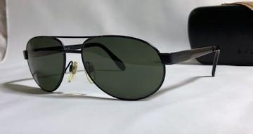 正規美レア BVLGARIブルガリ ティアドロップ メタルフレームサングラス 黒×ダークネイビー