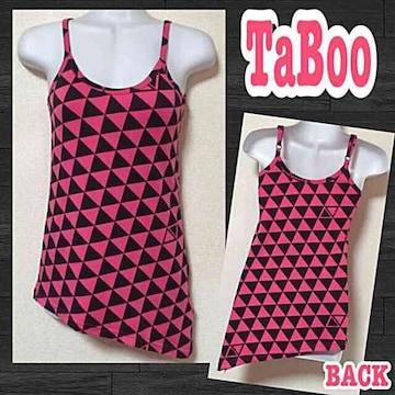 【新品/TaBoo】三角△▼幾何学模様▼△裾斜めカットキャミ