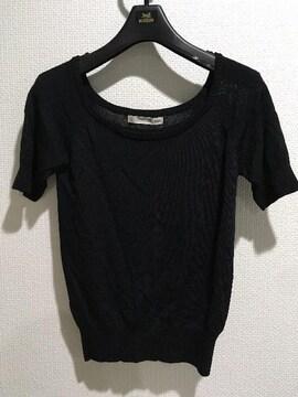ロイヤルパーティー半袖Tシャツトップスインナー黒ブラック無地