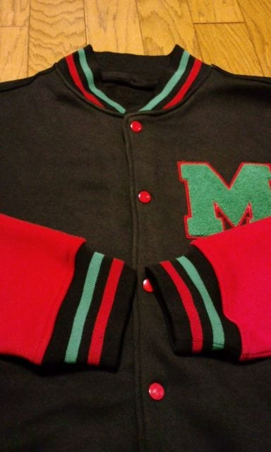 LA直輸入新品!BARE☆FOXスウェットスタジャンパーカー黒赤緑 サイズXL < 男性ファッションの