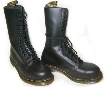 ドクターマーチン新品14ホールブーツ安全靴スチール入1940黒uk6