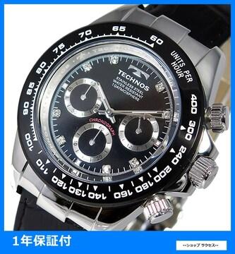 新品 即買い■テクノス メンズ クロノ 腕時計 T4392LT★