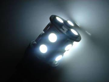 激照!T20型SMD13連LEDダブルウェッジバルブ ホワイト
