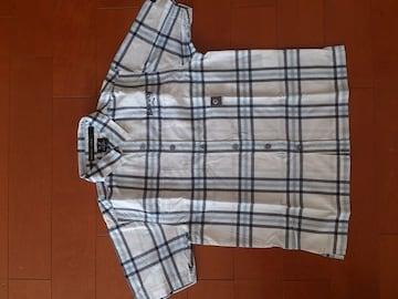 美品★BADBOY チェックシャツ 半袖Tシャツ 130