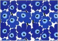 ◆青◇ マリメッコ☆ファブリック、生地★ウニッコ◇◆