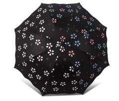 日傘 晴雨兼用 色が変化する折りたたみ傘 UVカット