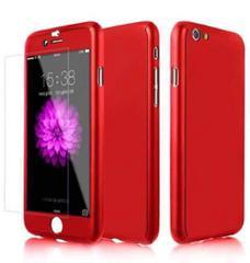 赤iPhone7plusケース 全面保護フルカバー 人気