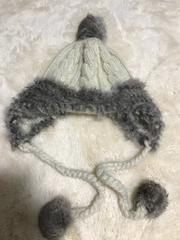 女の子用 毛糸の帽子 中古
