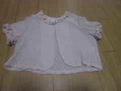 【新品タグ付】カワイイ♪フォーマル風半袖ボレロ110�pピンク