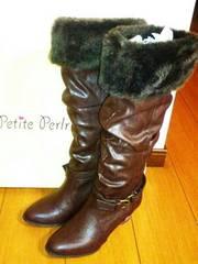 新品 定価8925円 ファー 2way ブーツ S 23cm 24cm