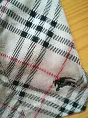 バーバリーhorse刺繍パフスリーブチェにック
