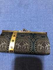 新品未使用 高級銘織 西陣織 がま口財布 6500円