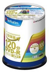 Verbatim 1回録画用DVD-R (片面1層/1-16倍速/100枚)
