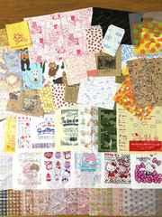紙&レジ袋など種類いろいろ計150枚セット(いろいろ約90柄)A�A