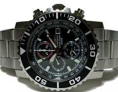 極美品 SEIKO セイコー【クロノグラフ】100m防水 メンズ腕時計