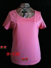 4Lサイズ〜*汗ジミ気にならないTシャツ・インナー(脇消臭機能)ピンク