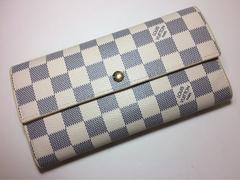 LouisVuittonダミエ アズール二つ折り長財布(サラ)