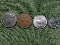 アイルランド硬貨4枚セット