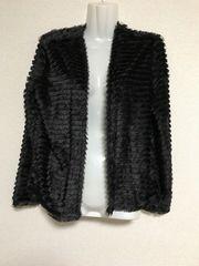 H&M/黒/シャギーカーデ/165/美品/送料込み