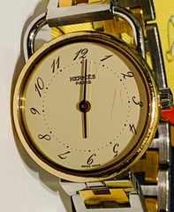 良品エルメスアルソーレディース時計ゴールドコンビブレス稼働品