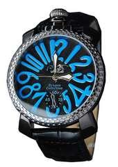 Club face★大人デザイン★メンズ腕時計★ブラック&ブルー