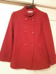 ブルーセレステ日本製ウール100★M38レッド赤ツイードコート上質