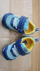 未使用 キャロット ムーンスター ベビー靴 サイズ12.5�p スニーカー 水色 ブルー