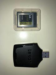lexar xqdカード 64gb+カードリーダーLXQD64GCRBJP2933 [64GB]