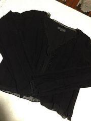黒アンサンブルニット40サイズ絹S〜M