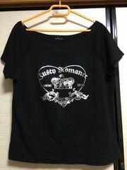 大きいサイズ3Lカッコ可愛い首周り広々Tシャツ