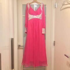 イヴニングドレス ピンクXSロングドレス