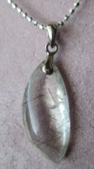 Silver925チェーン+ シルバー,グリーンルチル・イン・クォーツ