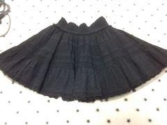 ワンスポ★used!コットンスカート/黒