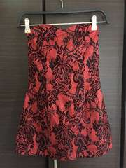 ベアワンピース 花柄 レース 赤黒レッド ワンピ ドレス