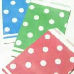 R100サイズ平袋★シンプルドット赤青緑30枚