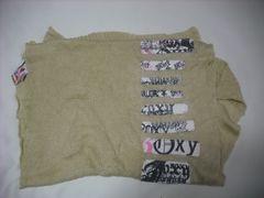 om68 ROXY ロキシー ニット ストール マフラー カーキ