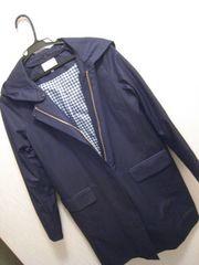 グローブ/grove☆濃紺の新品フード付きコート今期☆春秋